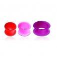 Тоннель силикон с бортами 04 мм / разные цвета