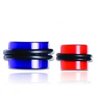 Плаг акриловый с резинкой 20 мм / разные цвета