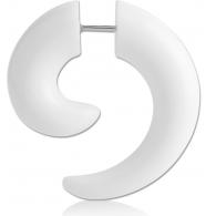 Фейк спираль акрил белый