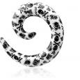 Спираль печать (разный рисунок) увеличенный диаметр акрил  10 мм
