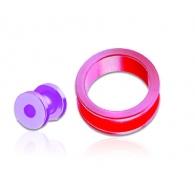 Тоннель акриловый блестящая пастель 08 мм / разные цвета