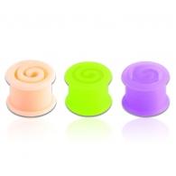 Тоннель силикон спираль 10 мм / разные цвета