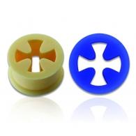 Тоннель силикон крест 18 мм / разные цвета