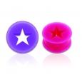 Тоннель силикон звезда 12 мм / разные цвета
