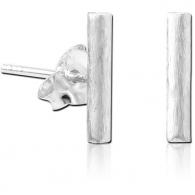Пусеты (гвоздики) серебро минимализм трубочки