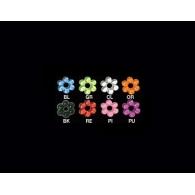 Аксессуар на шарик штанги для пирсинга языка - Пончик-цветочек UV