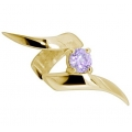 Ear cuffs (кафф) Виток  камнем 532 - мед. сталь покрытие золото 18 карат