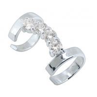 Пирсинг Ear cuffs (кафф) Шик - покрытие серебро производства Thailand_A
