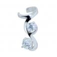Ear cuffs (кафф) Виток с камнем 537 - мед. сталь покрытие серебро