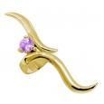 Ear cuffs (кафф) Виток с камнем 541 - мед. сталь покрытие золото 18 карат