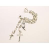 Ear cuffs (кафф) Крылья с крестиками