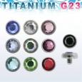 Накрутка 1,6 мм диск с камнем 3 мм TAJF3 / разные цвета