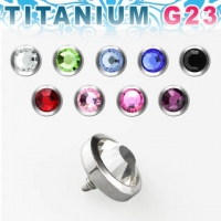 Пирсинг Накрутка 1,6 мм диск с камнем 5 мм TAJF5 / разные цвета  производства Thailand_E