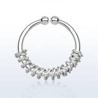 Обманка кольцо серебро 925 пробы с дизайном балийской проволоки AGSEP12A/ 1,0*12