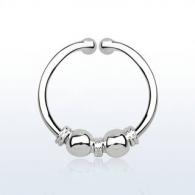Обманка кольцо серебро 925 пробы с дизайном балийской проволоки с шариками AGSEP12L/ 1,0*12