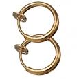 Обманка кольцо сталь анодирование золото, 1 шт.