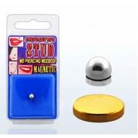Обманка (фейк) шарик мед.сталь 4 мм магнит большой цвет золото 8 мм