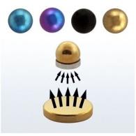 Обманка (фейк) шарик мед.сталь анодированная черный 4 мм магнит большой цвет золото 8 мм