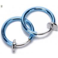 Обманка кольцо сталь анодирование бирюза,1 шт.