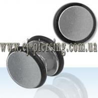 Фейк плаг с резинкой , мед сталь / IPR