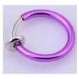 Обманка кольцо сталь анодирование темно-фиолетовый,1 шт.