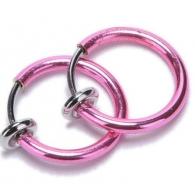 Обманка кольцо сталь анодирование розовый, 1 шт.