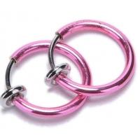 Пирсинг Обманка кольцо сталь анодирование розовый, 1 шт. производства США