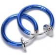 Обманка кольцо сталь анодирование сапфир, 1 шт.