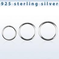 Хард 0,6 мм покрытие серебро 925 проба на изгиб / разные диаметры