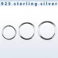 Пирсинг Хард 0,8 мм покрытие серебро 925 проба на изгиб / разные диаметры производства Thailand_E
