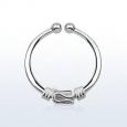 Обманка кольцо серебро с дизайном балийской проволоки / 1,0*12