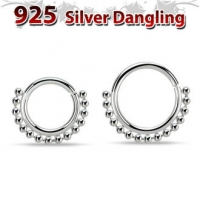 Пирсинг Септум кликер серебро 1,2 мм / размеры производства Thailand_E