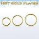 Хард 0,8 мм серебро 925 проба на изгиб покрытие золото 18 к. / разные диаметры