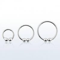 Пирсинг Обманка кольцо серебро 925 проба калибр 0,8 мм / разные размеры производства Thailand_E