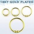 Обманка кольцо серебро 925 проба покрытие золото 18 карат калибр 0,8 мм / разные размеры
