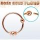 Кольцо 0,8 мм мед.сталь покрытие золото розовое 18 карат с декором  /0,8*8