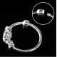 Кольцо 0,8 мм мед.сталь покрытие серебро 925 пробы с декором  змейка/0,8*8