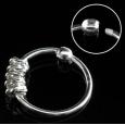 Кольцо 0,8 мм мед.сталь покрытие серебро 925 пробы с декором спираль /0,8*8