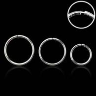 Хард 1,0 мм серебро 925 проба на изгиб с фиксатором / разные диаметры
