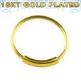 Кольцо 0,8 мм мед.сталь покрытие золото 18 карат с декором  /0,8*8