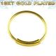 Кольцо 0,8 мм мед.сталь покрытие золото 18 карат с декором  /0,8*6