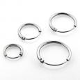 Серьги кольца серебро 925 проба  диаметр 8 мм, пара