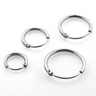 Серьги кольца серебро 925 проба  диаметр 10 мм, пара