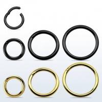 Пирсинг Хард 1,2 мм мед. сталь черная сегмент фиксированный / размеры производства Thailand_E