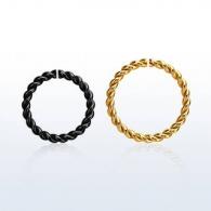 Кольцо 1,2 мм витое мед.сталь PVD покрытие черное /размеры