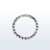 Кольцо 1,2 мм элегант мед.сталь /размеры