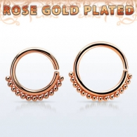Септум кликер мед. сталь покрытие розовое золото 1,2 мм / размеры