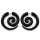 Фейк спираль улитка акрил черный 6 мм