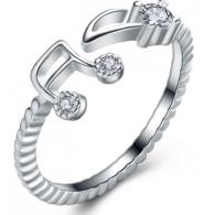 Кольцо Нотки , размер 16-19 изменяемый