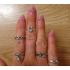 Комплект колец на пальцы и фаланги пальцев Клеопатра Антик серебро / 10 штук фото пирсинг 1